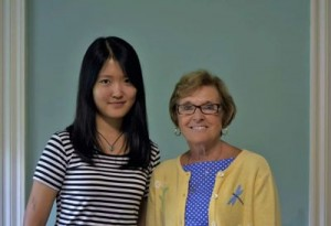 Charlie Sun '18 and Diane Ryan of Community Action Partnership