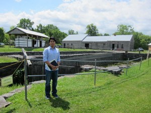 Phyo Thant '16 at the Chittenango Landing Canal Boat Museum in Madison County, New York