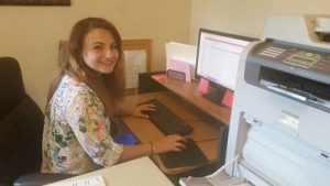Meagan Herlihy '17 at work in Abraham House, Utica NY